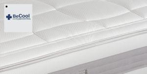 Air Flow Control  Grazie alle sue proprietà il tessuto Becool offre un ottimo controllo- regolatore sia della temperatura della pelle sia deII'idratazione corporea e permette di allontanare dal corpo molto più rapidamente l'umidità rilasciata durante il sonno..