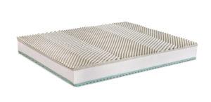 ALISEO è un materasso dotato di ben 800 molle nella misura matrimoniale che vengono custodite in sacchetti di tessuto non tessuto..